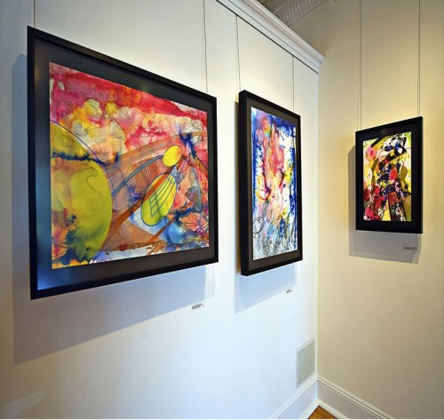 Colin Goldberg - 2011 Solo Exhibition - Techspressionism - 4 North Main Gallery, Southampton NY. Works on Paper.