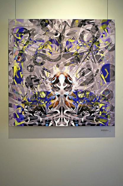 Colin Goldberg - 2011 Solo Exhibition - Techspressionism - 4 North Main Gallery, Southampton NY. Digital Monoprint - Paradox.