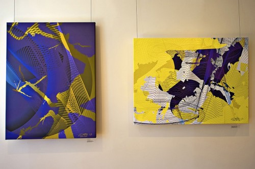 Colin Goldberg - 2011 Solo Exhibition - Techspressionism - 4 North Main Gallery, Southampton NY. Digital Monoprints - Fractality, Suggesture.
