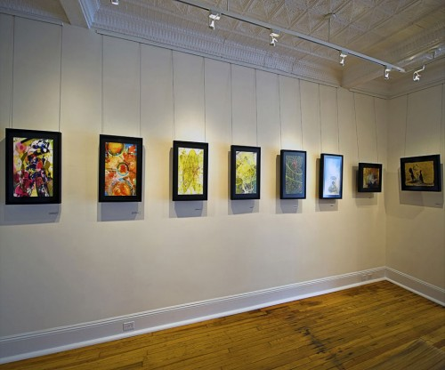 Colin Goldberg - 2011 Solo Exhibition - Techspressionism - 4 North Main Gallery, Southampton NY. Installation View.