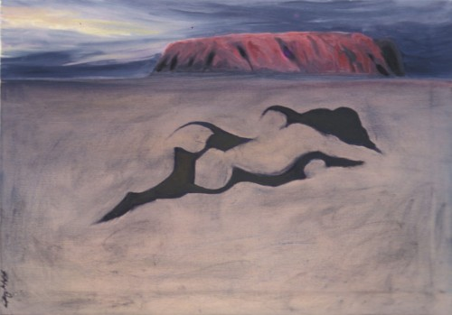 Colin Goldberg, Outback Nude, 1994. Oil on canvas, 36 x 48 inches. Private collection, New York.