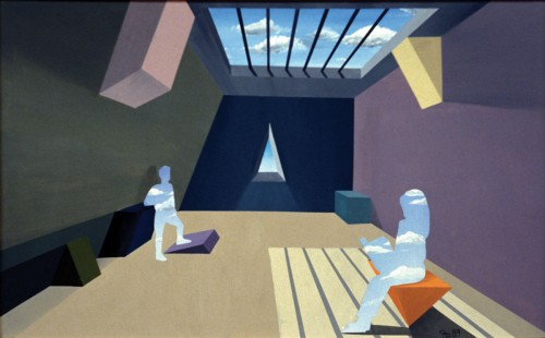Colin Goldberg, Sky People, 1990. Acrylic on canvas, 36 x 60 inches. Private collection, New York.