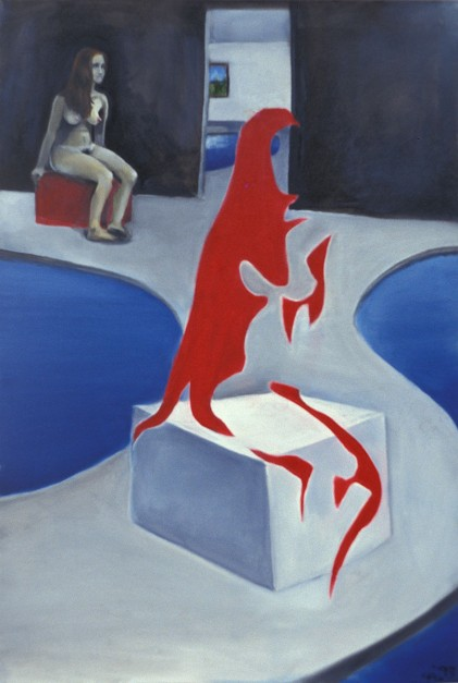 Colin Goldberg, Gestalt Nude, 1993. Oil on canvas, 18 x 28 inches.