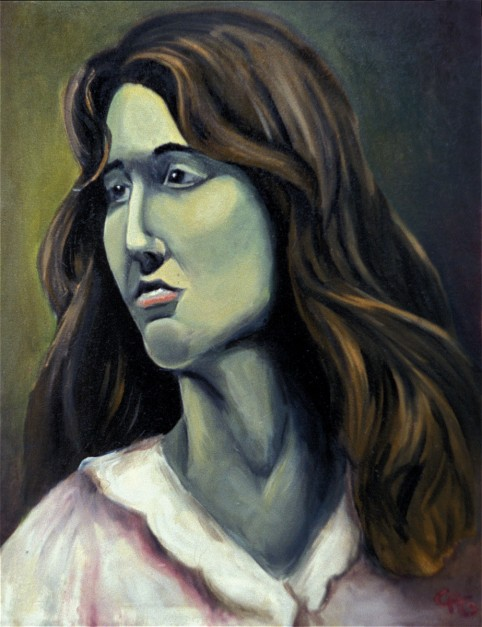 Colin Goldberg, Green Woman, 1992. Oil on canvas,18 x 24 inches. Original lost.