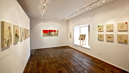 Colin Goldberg - Improbable Forms at Art Sites Gallery : Installation View. Photograph by Jeff Heatley.