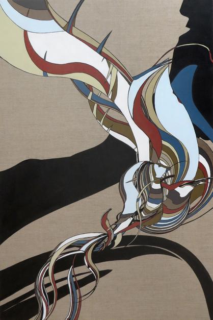 Colin Goldberg, Tsuru, 2014. Oil on linen. 48x32 inches.
