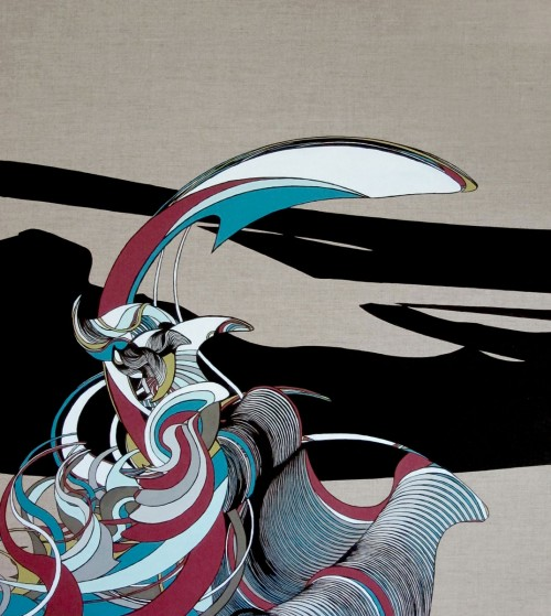 Colin Goldberg, Nami, 2012. Oil on Linen, 36 x 40 inches.