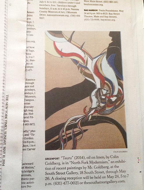 Colin Goldberg, Tsuru, NY Times