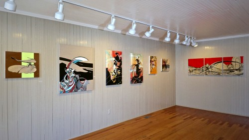 Colin Goldberg, North Fork Modernism Exhibition at the South Street Gallery, Greenport NY. Installation view.