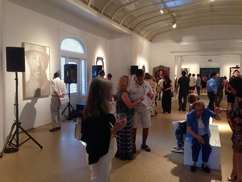 Irrational Portrait Gallery Opening Reception at the Southampton Arts Center, June 28, 2014