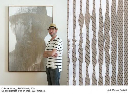 Colin Goldberg - Self Portrait, 2014. Oil and pigment print on linen, 60x40 inches.