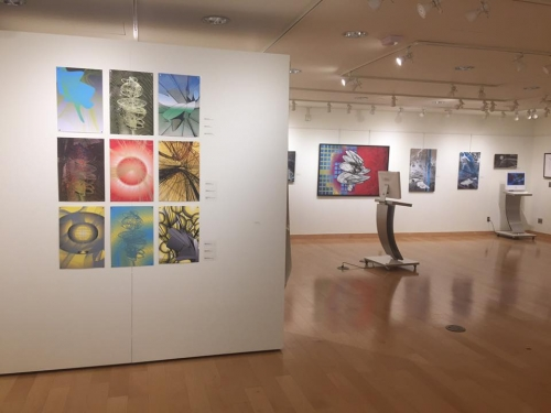 Colin Goldberg, History of the Future at Farmingdale State College 2016. Installation view.